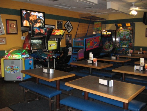 Dining room and games at the Chino restaurant