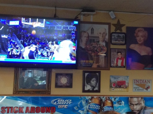 Sports on TV in the restaurant