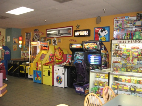 Games in the Santa Maria restaurant