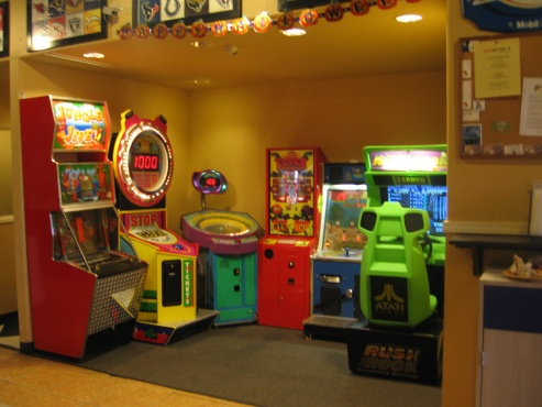 Games and arcades in the restaurant