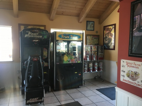 Arcades and games in the restaurant